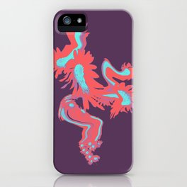 Meadow Dreaming purple and red iPhone Case
