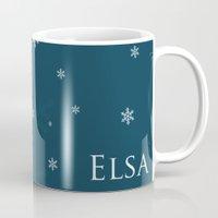 elsa Mugs featuring Elsa by swisscreation