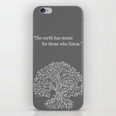 Earth song iPhone & iPod Skin