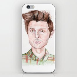 Adam Scott Drawing iPhone Skin