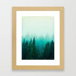 Fog Foggy Samish Forest Woods Mountain Northwest Washington Landscape Framed Art Print