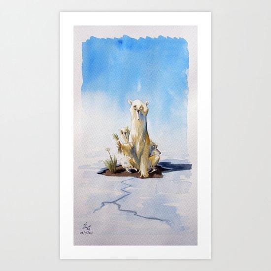 Whitepeace Art Print