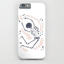 Falling Skeleton iPhone Case