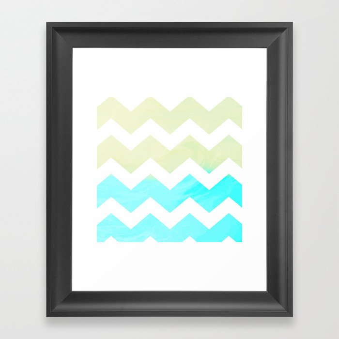 TO THE SEA CHEVRON Framed Art Print