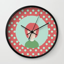 red hair girl Wall Clock