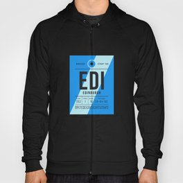 Luggage Tag E - EDI Edinburgh Scotland Hoody