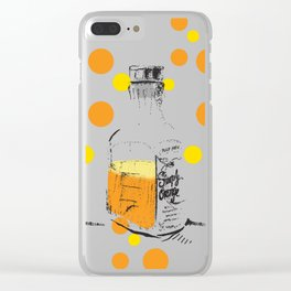I Am Orange Lover: Pop Art Illustration Clear iPhone Case