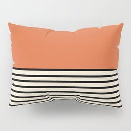 Sunrise / Sunset I - Orange & Black Pillow Sham