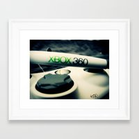 xbox Framed Art Prints featuring Xbox controller by Keegan Rigby