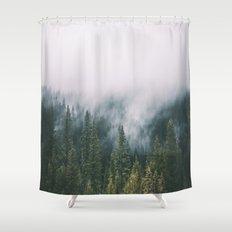 Forest Fog XI Shower Curtain