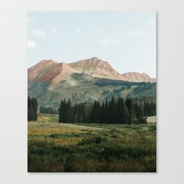 Pink Mountain Spine in Crested Butte Canvas Print