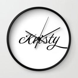 Name Kristy Wall Clock