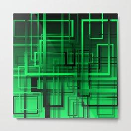 Black and green abstract Metal Print