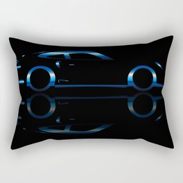 Blue Flash Fast Car Rectangular Pillow