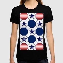Nautical Patriotic Hexagons T-shirt