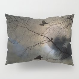 Crows Lit By A Full Moon Pillow Sham