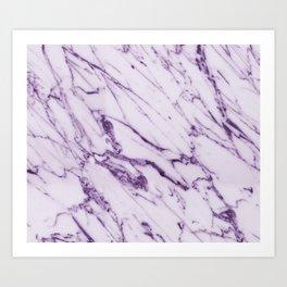 Purple marble Art Print