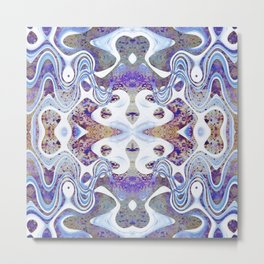 Abstract Purple, Blue and White Design 671 Metal Print