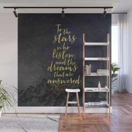 To the stars who listen...A Court of Mist and Fury (ACOMAF) Wall Mural