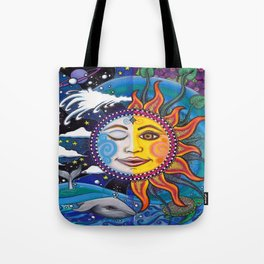 Sun and Moon Art by Julie Oakes Tote Bag