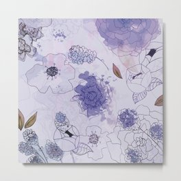 Violet & Lavender Hues Metal Print