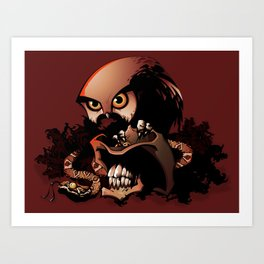 The Dead Cowboy, The Rattlesnake and The Owl Art Print