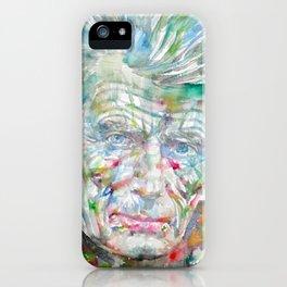 SAMUEL BECKETT watercolor portrait.9 iPhone Case