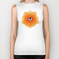 chakra Biker Tanks featuring Sacral Chakra by DuckyB