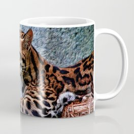 Ocelot Painted Coffee Mug