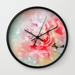 The Passion of Peonies Wall Clock