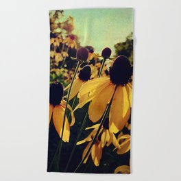Sunshine and Flowers Beach Towel