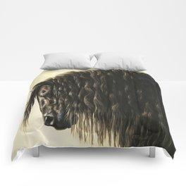 Black Friesian Draft Horse Comforters
