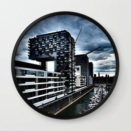 Harbor_Cologne_Germany Wall Clock