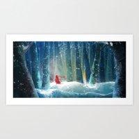 SNOW RED Art Print