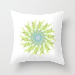 Birds, leaves and sky Throw Pillow