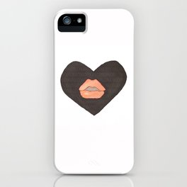 Abby Loves 'Lips & Hearts' by Abby Shepard iPhone Case