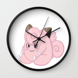 Clefairy sits! Wall Clock