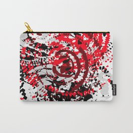 red black white silver grey abstract digital art Carry-All Pouch