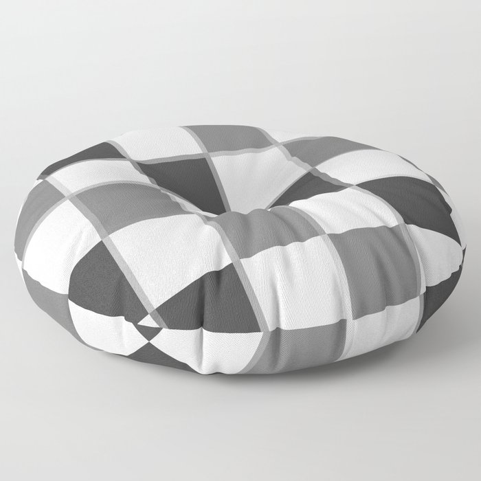 Slate & Gray Checkers / Checkerboard Floor Pillow