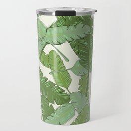 Banana Leaf Print Travel Mug
