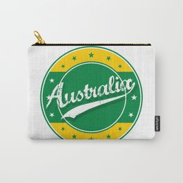 Australia, circle, green yellow Carry-All Pouch