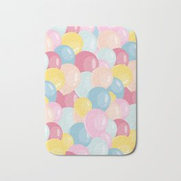 Happy birthday party balloons Bath Mat