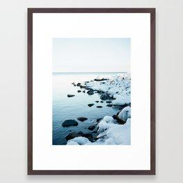 North Shore Winter Framed Art Print