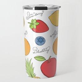 Fruit Doodles Travel Mug