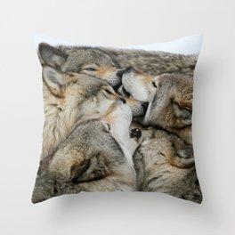Muzzle Nuzzle Throw Pillow
