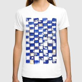 Blue and White Checks T-shirt