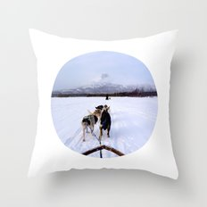Telescope 7 husky Throw Pillow