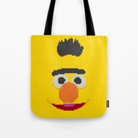 knit Tote Bags featuring Knit Bert by colli1.3designs