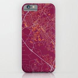 BLACKSBURG VIRGINIA COLLEGIATE MAP HANDRAWN iPhone Case