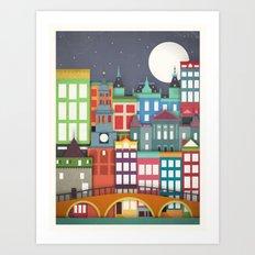 Touristique - Amsterdam Art Print